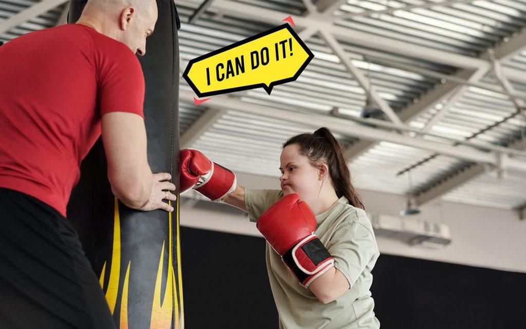 girl kick boxing