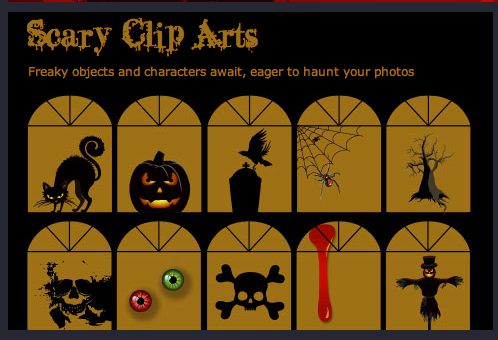 Scary Halloween Clip Arts