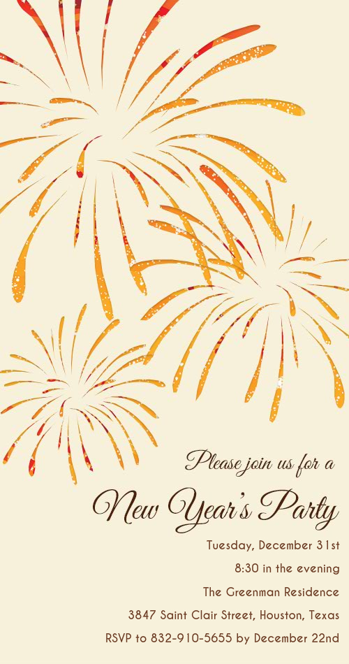 DIY Customizable New Year\'s Eve Invitation Cards & Photo Cards ...