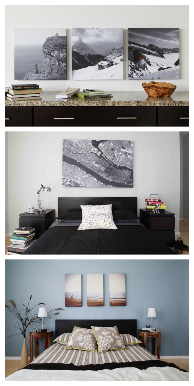 Your edited photos printed on canvas to be hung as artwork on your wall