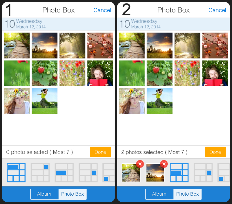 Add multiple photos to your collage!