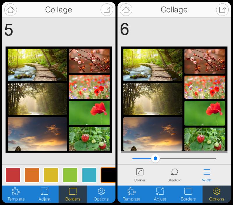 Adjust collage border color
