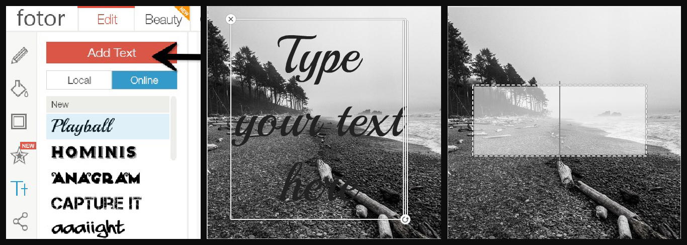 Add text to your pics