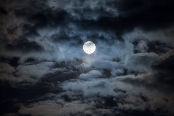 Moon on Cloudy night