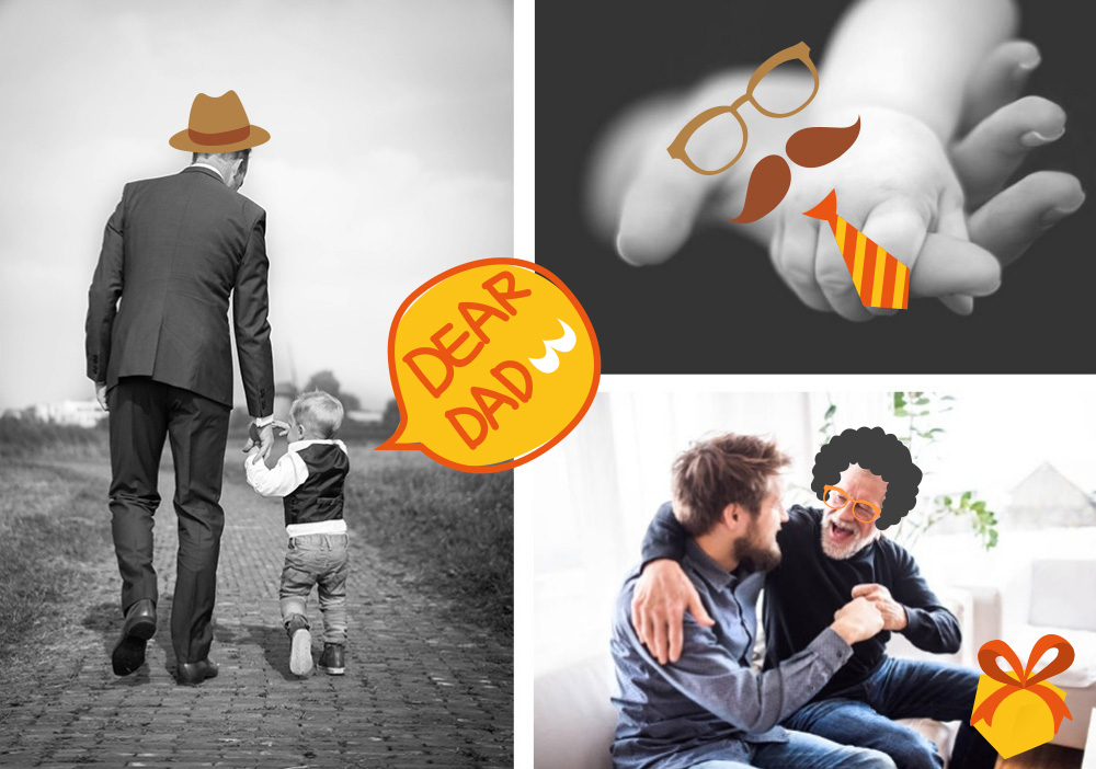 father day cute sticker