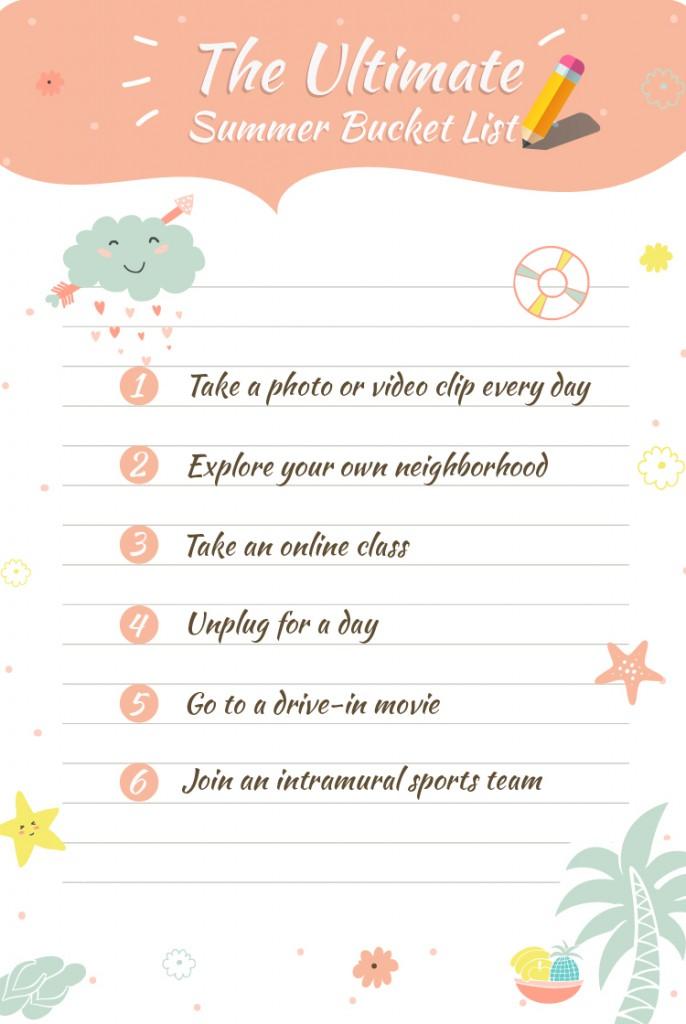 The Ultimate Summer Bucket List | Fotor's Blog
