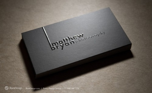 embossing business card