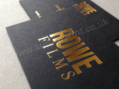 foil stamping business card