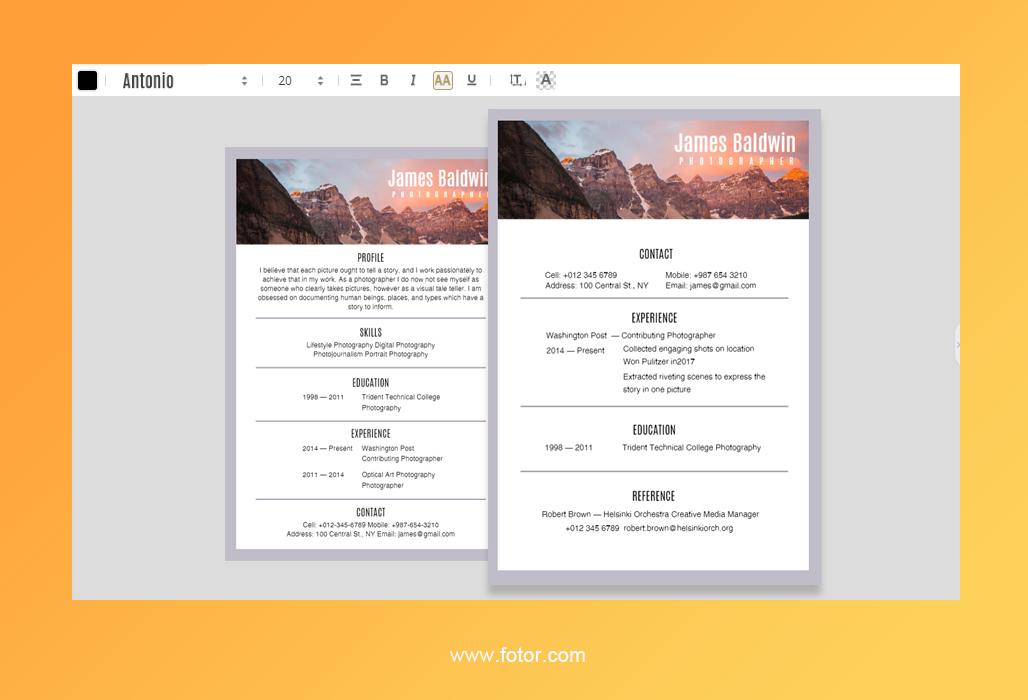 resume design 4