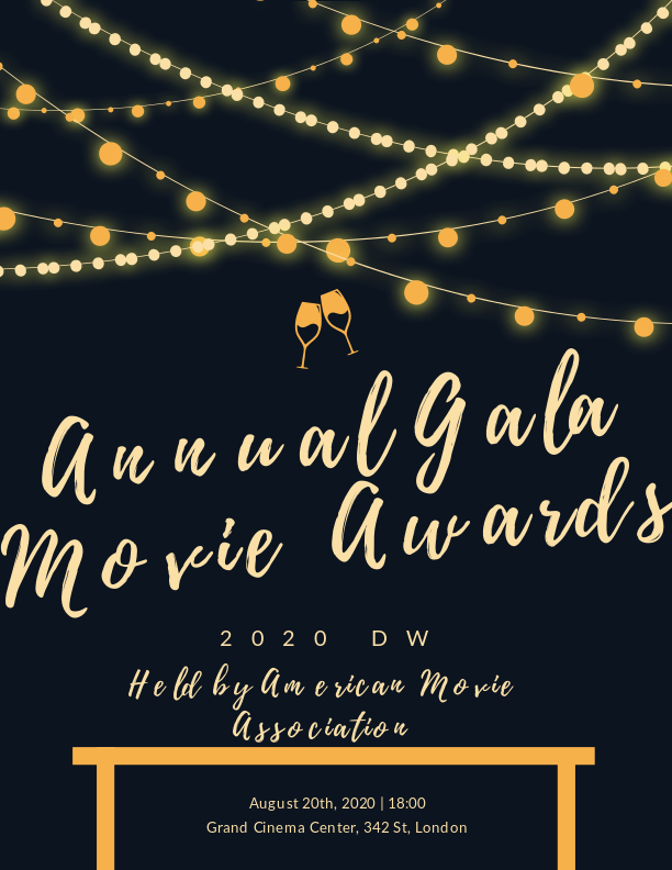 Annual Gala Movie Awards Event Program Templates