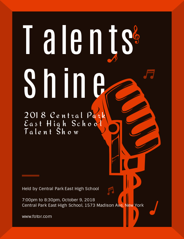 Talents Shine Program Templates