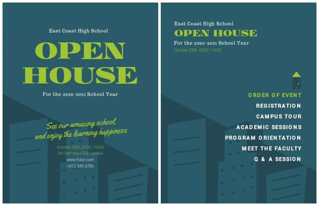 Open House Event Program Design Templates