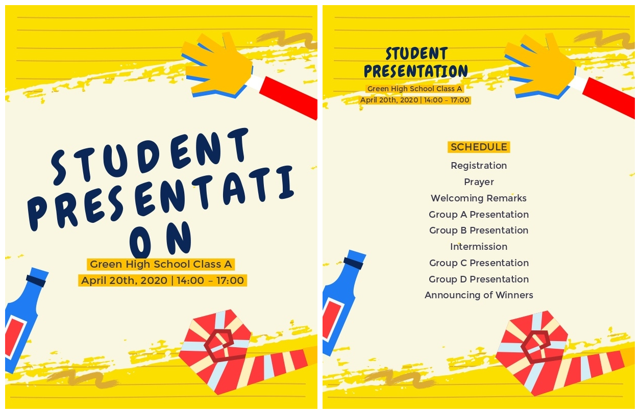 Student Presentation Program Design Layout