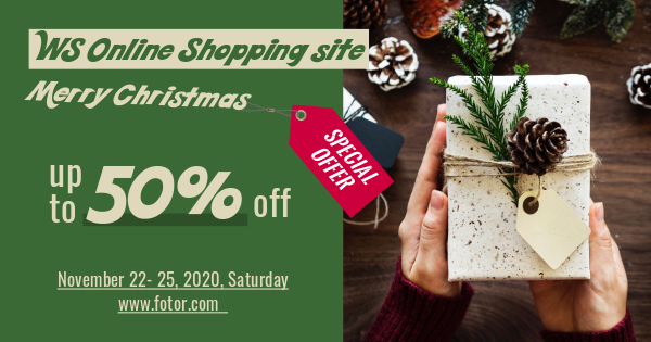 Christmas Online shopping ads graphic design