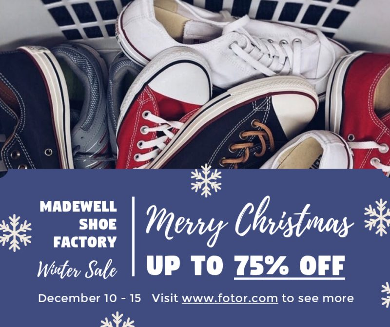 Merry Christmas Shoes Sales Graphic Design