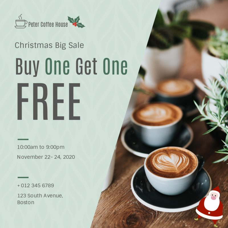 buy one get one free coffee sale