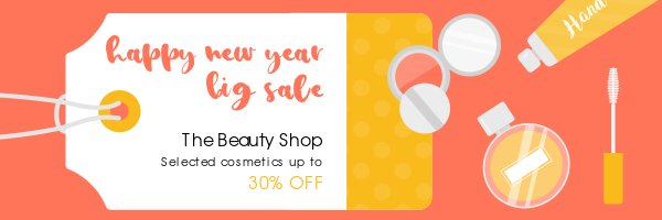 cosmetics shop email header