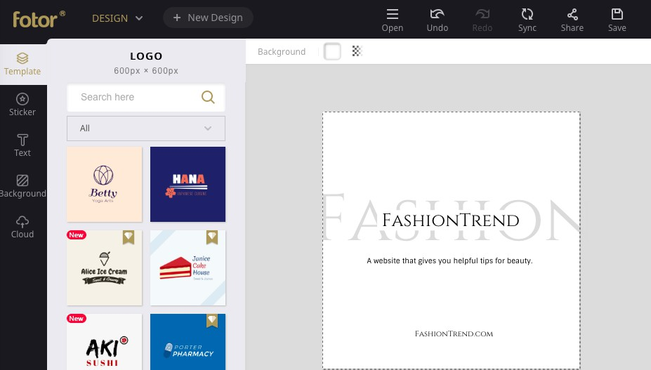 fashion brand logo design