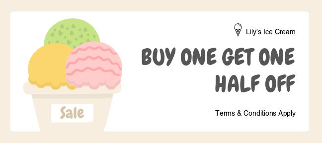 ice cream gift certificate