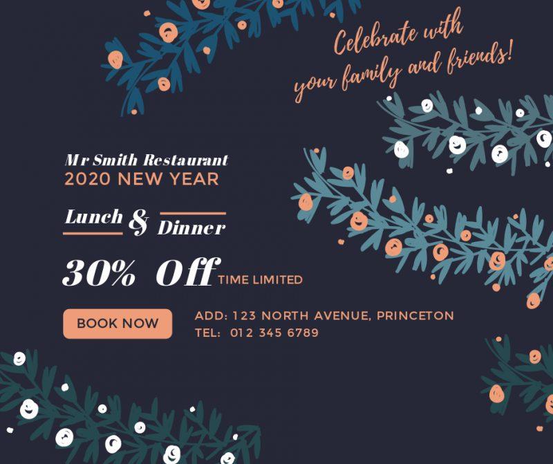 restaurant discount facebook post