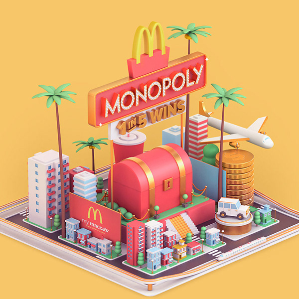 Isometric View graphic design trends