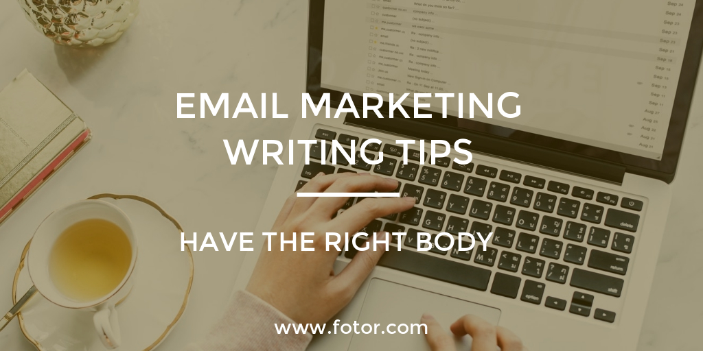 email marketing writing tips