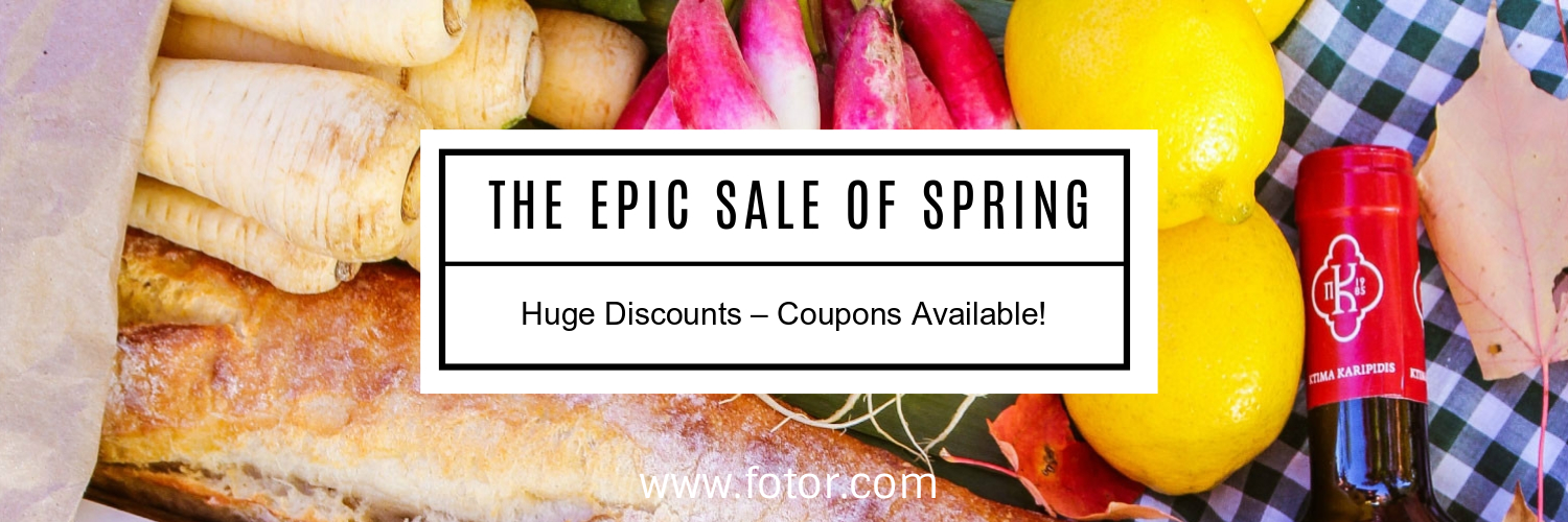 spring food sale twitter cover