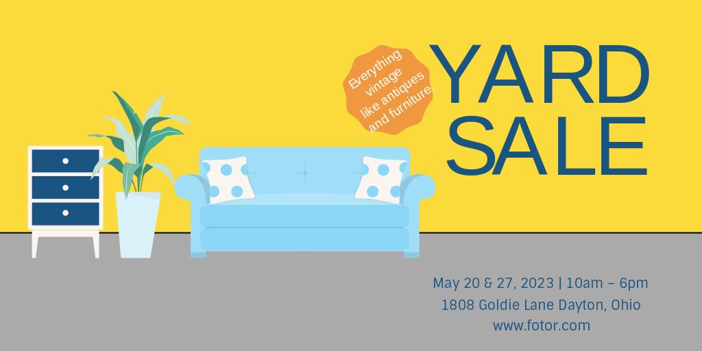 yard sale twitter post