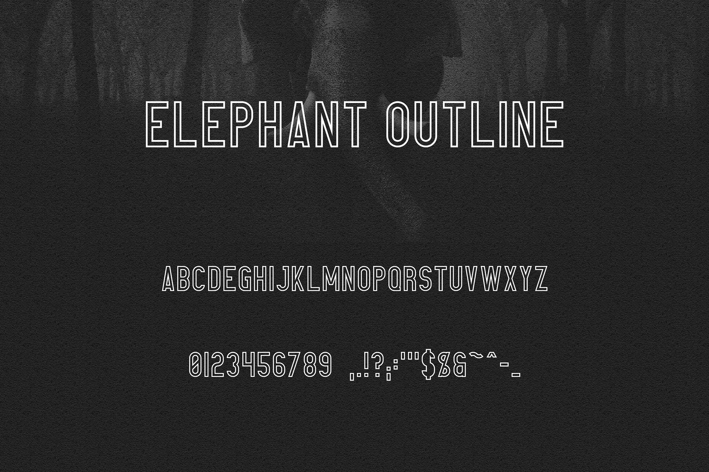 elephant-outline