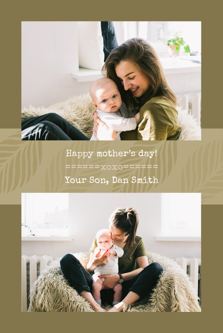 Mothers day simple collage