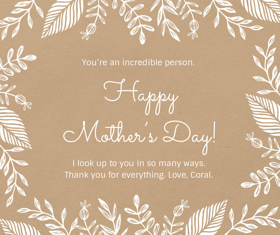 happy mother's day simple card