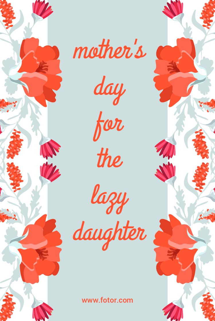 mother's day floral quote