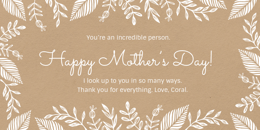 mother's day simple card