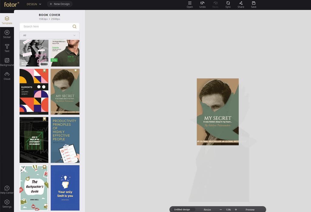 book cover design templates
