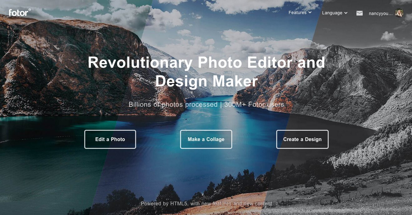 Photo editor and graphic design tool
