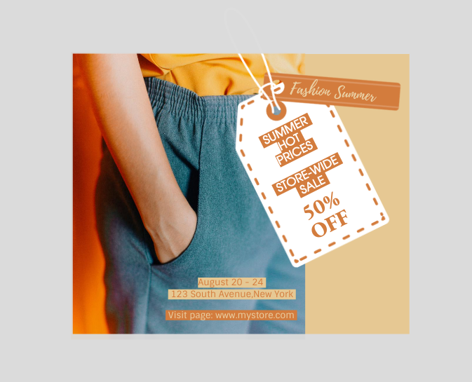 clothes banner ads