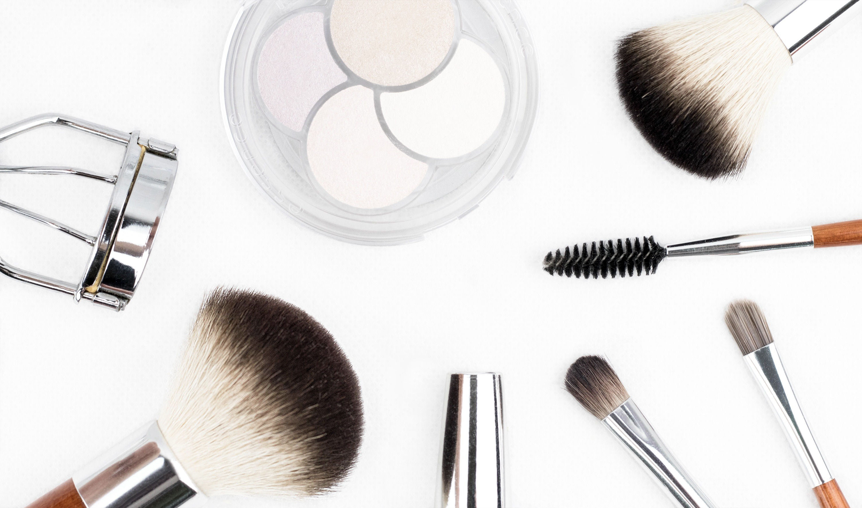 makeup product photo with white background