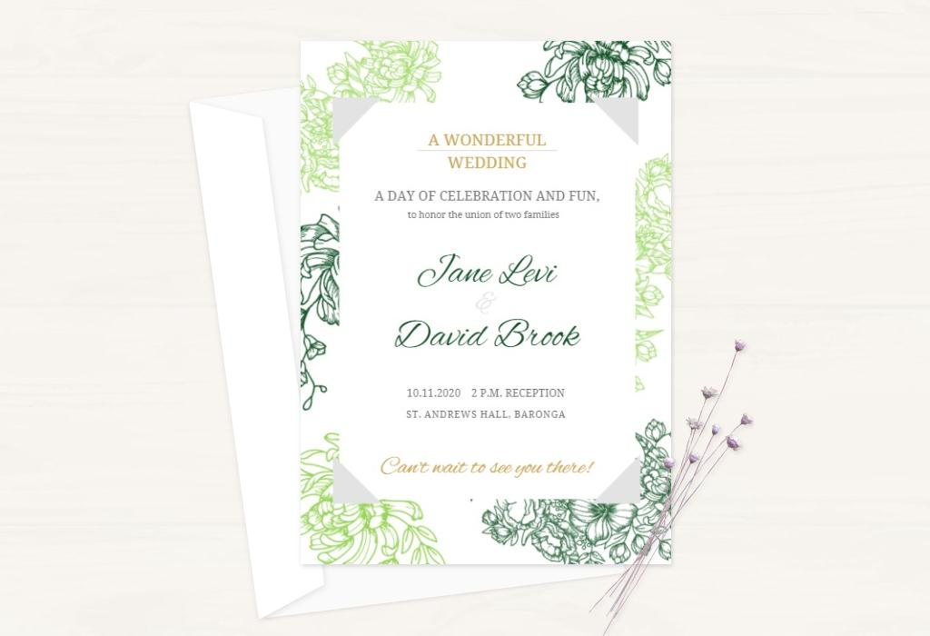export your wedding invitation