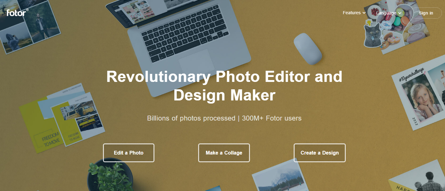 graphic design and photo editing tool