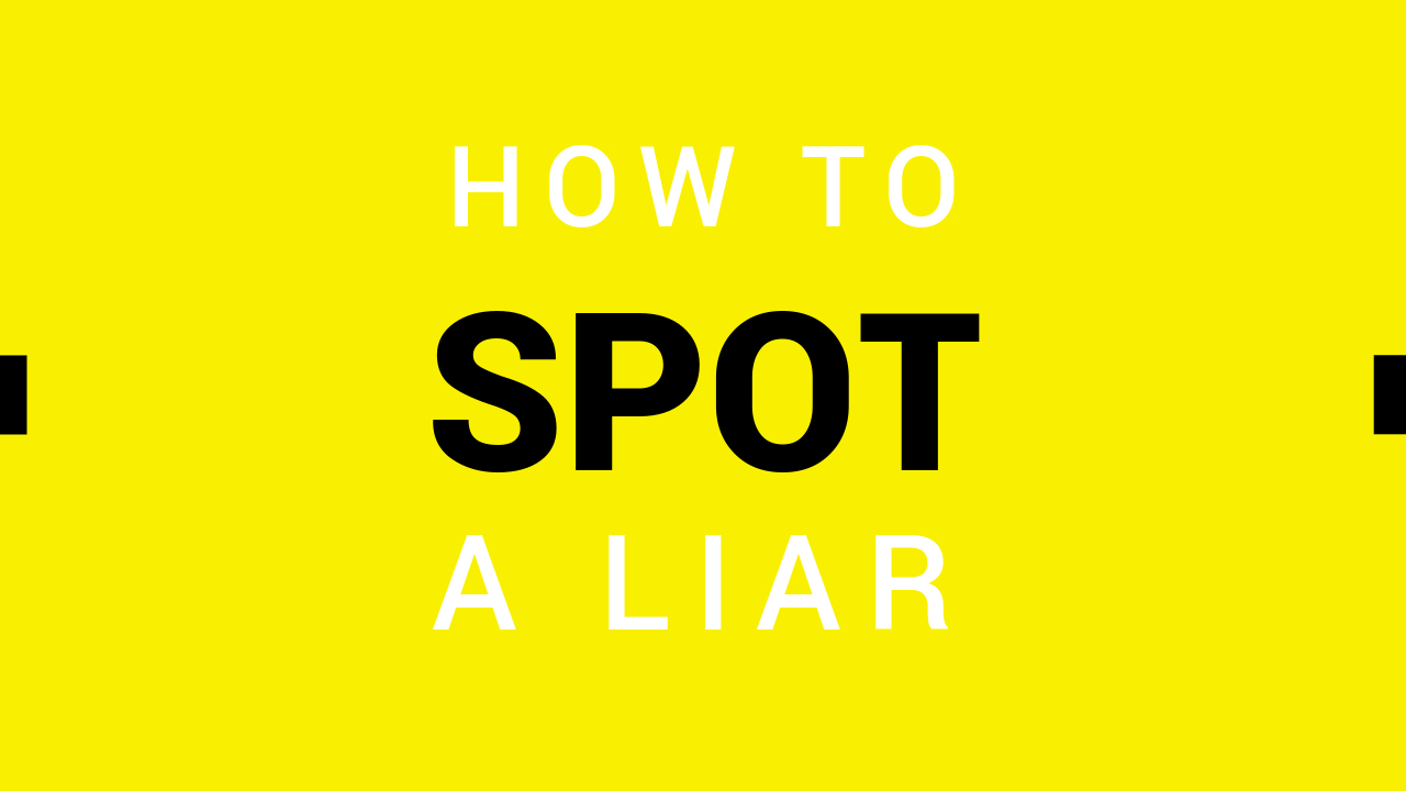 12.How to spot a liar YouTube thumbnail template