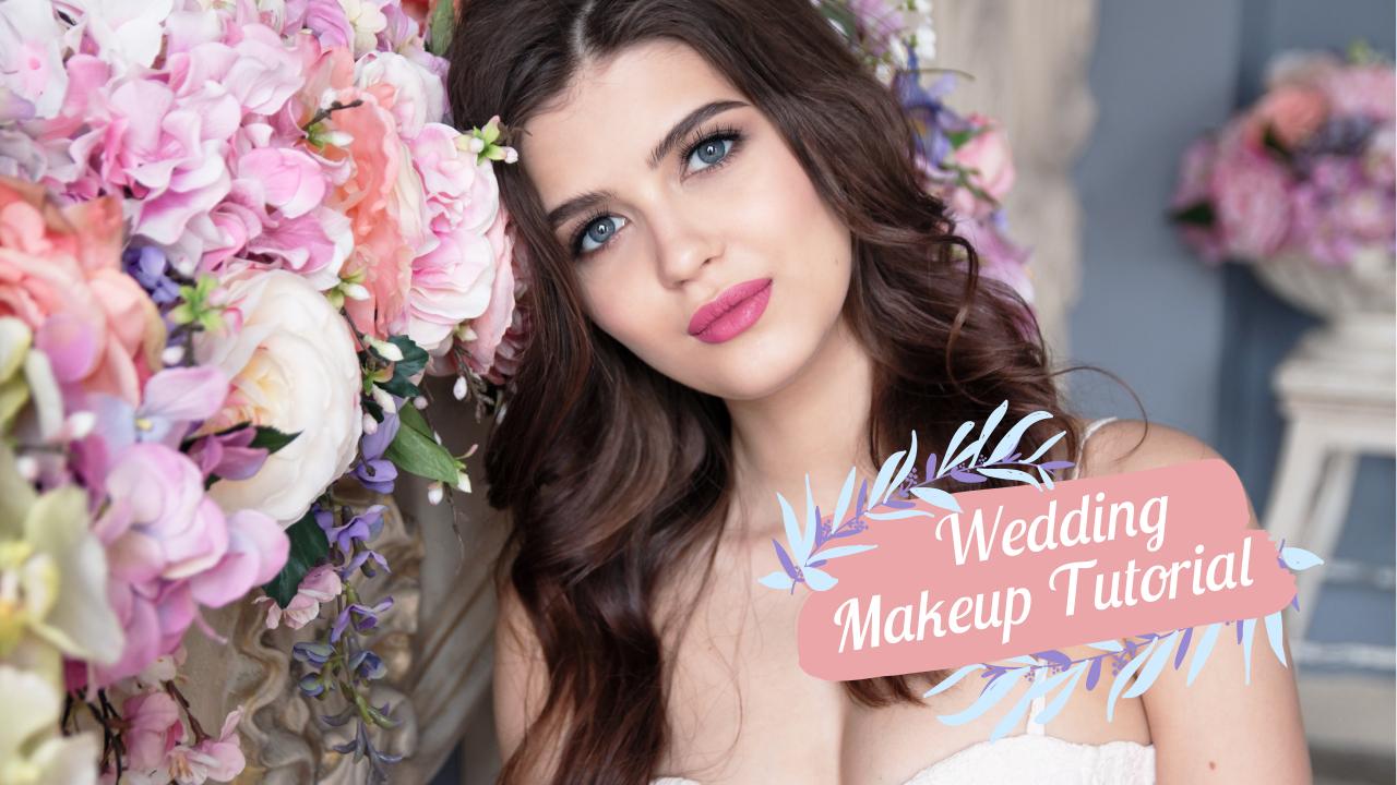 15.Wedding makeup tutorial YouTube thumbnail template