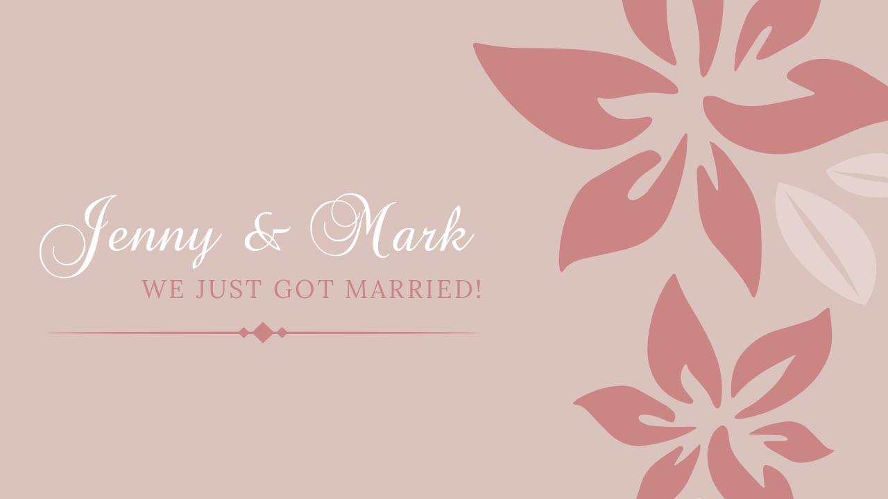 17.Wedding invitation card YouTube thumbnail template