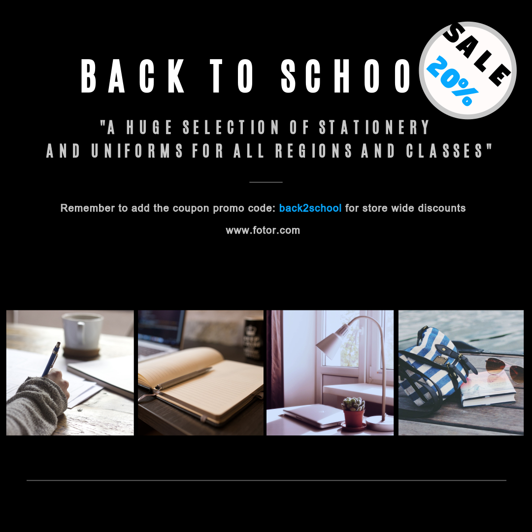 2. Back to school sales poster template