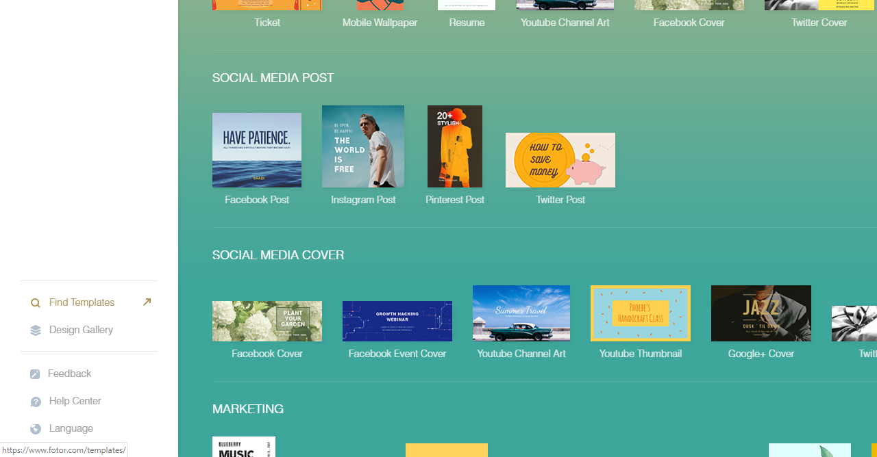 23.Fotor graphic design templates