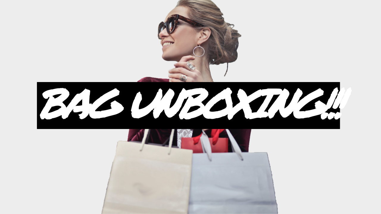 30.Bag unboxing YouTube thumbnail template