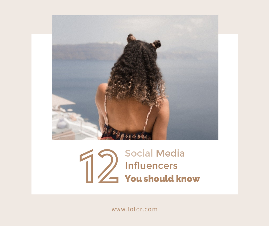 4. Social Media Influencers blog image template