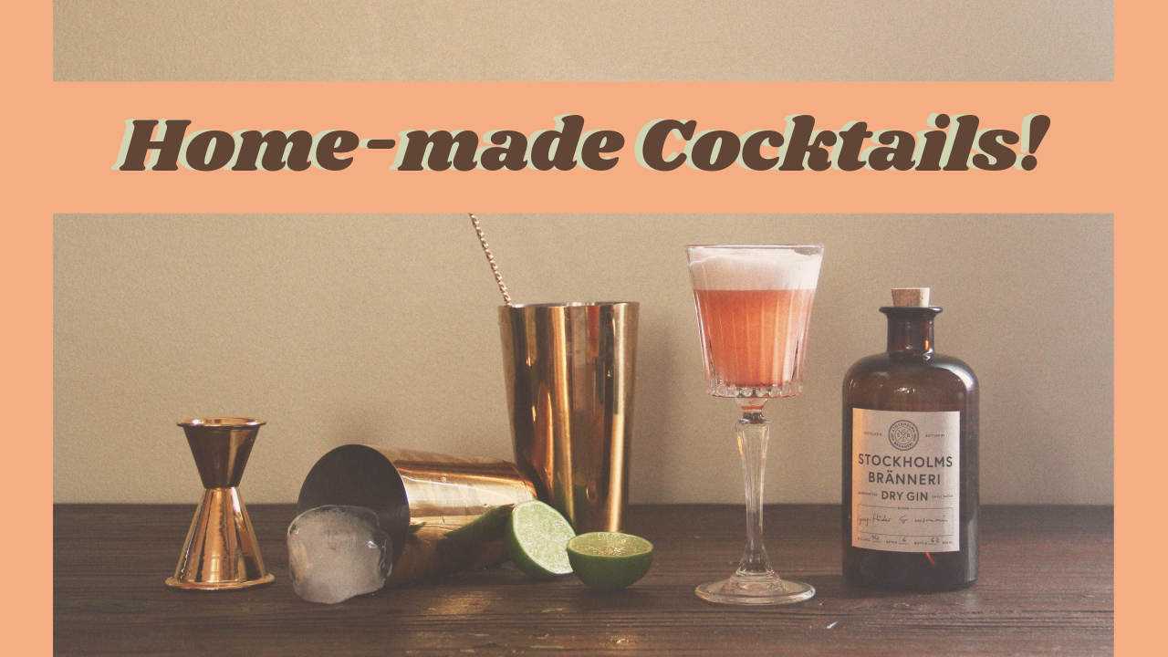 4.Fotor home-made cocktails YouTube thumbnail template