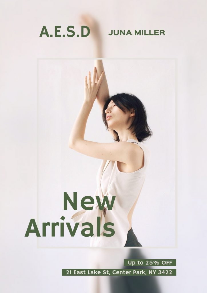 5. New arrivals poster template
