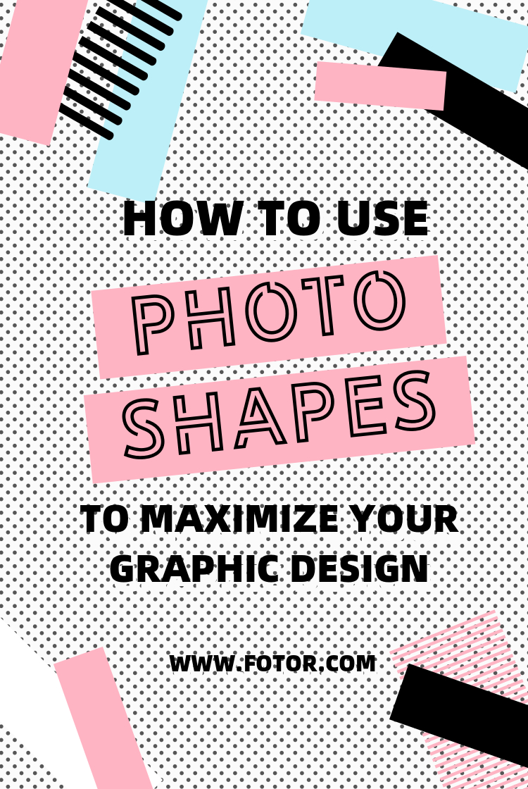 how to use photo shapes to maximize your graphic design