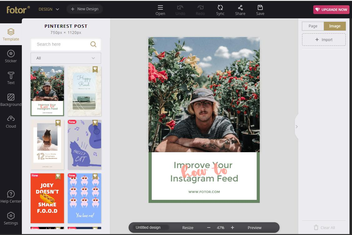 12.Fotor online graphic design tool editor